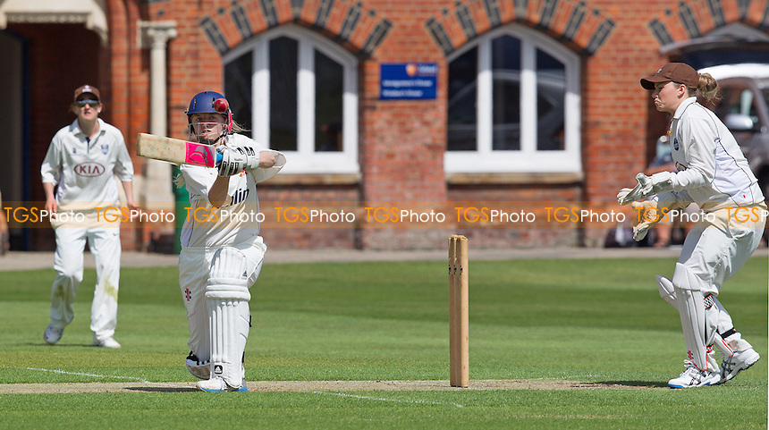 Lily Reynolds of Essex pulls behind square - Essex Women v Surrey Women, Division 1 Royal London Women's One Day Cup, Felsted School, Essex - 25/05/14 - MANDATORY CREDIT: Ray Lawrence/TGSPHOTO - Self billing applies where appropriate - 0845 094 6026 - contact@tgsphoto.co.uk - NO UNPAID USE