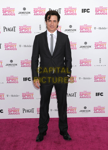 Dermot Mulroney.2013 Film Independent Spirit Awards - Arrivals Held At Santa Monica Beach, Santa Monica, California, USA,.23rd February 2013..indy indie indies indys full length black suit white shirt grey gray tie .CAP/ROT/TM.© TM/Roth/Capital Pictures