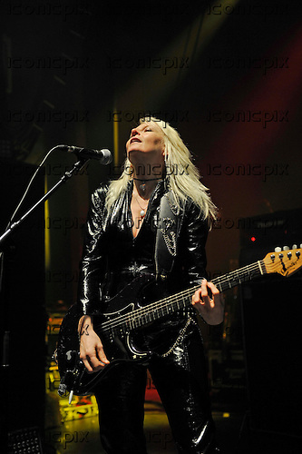 GIRLSCHOOL - Jackie Chambers - performing live at the Empire in Shepherds Bush London UK - 05 Nov 2016.  Photo credit: Zaine Lewis/IconicPix