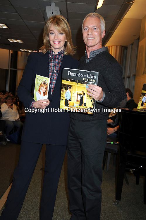 "Deidre Hall, signing her book ""Deidre Hall's Kitchen Closeups"" and Greg Meng at the book signing for""Days of Our Lives 45 Years :A Celebration in Photos"" at Barnes & Nobles, Lincoln Triangle in New York City on December 7, 2010..photo by Robin Platzer/ Twin Images"
