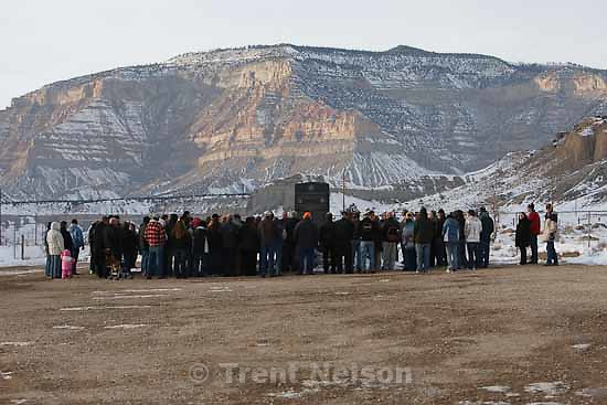 at a memorial for the 27 people who died in the Wilberg Mine disaster 25 years ago today, Saturday, December 19, 2009.