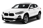 2018 BMW X2 Base 5 Door SUV angular front stock photos of front three quarter view