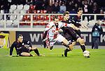 2016-01-30 / Voetbal / Seizoen 2015-2016 / R. Antwerp FC - KSK Heist / Mathieu Cornet (Antwerp) lokt een penalty uit.<br /> <br /> Foto: Mpics.be