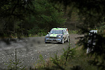 14th September 2012 - Devils Bridge - Mid Wales : WRC Wales Rally GB SS6 Myherin stage : Chris Atkinson (AUS) and co driver Stephane Prevot (BEL) in their MINI John Cooper Works.