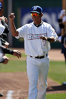 April 14, 2010:  Shortstop Ruben Tejada of the Buffalo Bisons is introduced before a game at Coca-Cola Field in Buffalo, New York.  The Bisons are the Triple-A International League affiliate of the New York Mets.  Photo By Mike Janes/Four Seam Images