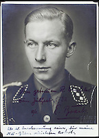 BNPS.co.uk (01202 558833)<br /> Pic: AlexanderHistoricalAuctions/BNPS<br /> <br /> Erik Brack who took the photographs.<br /> <br /> Chilling early photographs of the Nazi party which show Adolf Hitler basking in the adulation of his fanatical supporters and Jews being persecuted have been unearthed.<br /> <br /> The disturbing images from an SS officer's photo album date from 1931 to 1935 so they cover the period of the Nazis' rise to power and the first two years of the dictatorship.<br /> <br /> The album was recovered by US Army officer Philips Parks Ramsey after the war but his family have now decided to put it up for auction and it is tipped to sell for &pound;1,500 ($2,000).