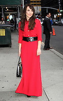 June 05, 2012 Noomi Rapace at Late Show with David Letterman in New York City. © RW/MediaPunch Inc.