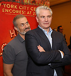 """Marc Kudisch and Douglas Sills attends the final performance after party for the New York City Center Encores! at 25 production of  """"Hey, Look Me Over!"""" on February 11, 2018 at the City Center Theatre in New York City."""