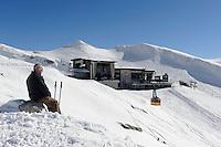Station H&ouml;fatsblick auf dem Nebelhorn bei Oberstdorf im Allg&auml;u, Bayern, Deutschland<br /> Hillstation H&ouml;fatsblick,  Mt.Nebelhorn near Oberstdorf, Allg&auml;u, Bavaria, Germany