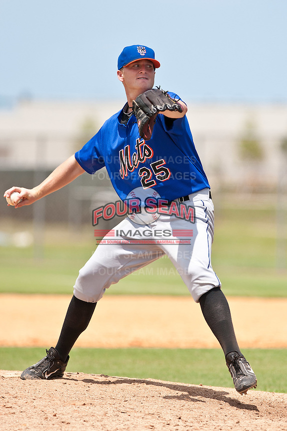 Peter Birdwell of the Gulf Coast League Mets during the game against the Gulf Coast League Nationals June 27 2010 at the Washington Nationals complex in Viera, Florida.  Photo By Scott Jontes/Four Seam Images