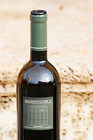 Chateau Mansenoble. In Moux. Les Corbieres. Languedoc. France. Europe. Bottle.