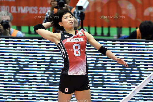 Sarina Koga (JPN), MAY 14, 2016 - Volleyball : Women's Volleyball World Final Qualification for the Rio de Janeiro Olympics 2016 match between Japan 3-0 Peru at Tokyo Metropolitan Gymnasium in Tokyo, Japan. (Photo by Ryu Makino/AFLO)