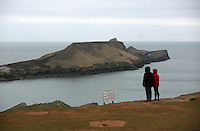 Pictured: Worm's Head. Monday 17 March 2014<br />