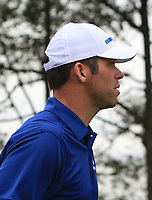 Paul Casey (Europe) on the 15th during the Singles Matches of the Eurasia Cup at Glenmarie Golf and Country Club on the Sunday 14th January 2018.<br /> Picture:  Thos Caffrey / www.golffile.ie