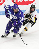 Mike Apreda (Curry - 23), Andrew Yarber (WIT - 7) - The Wentworth Institute of Technology Leopards defeated the visiting Curry College Colonels 1-0 on Saturday, November 23, 2013, at Walter Brown Arena in Boston, Massachusetts.