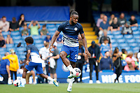 Michy Batshuayi of Chelsea warming up during the Premier League match between Chelsea and Sheff United at Stamford Bridge, London, England on 31 August 2019. Photo by Carlton Myrie / PRiME Media Images.