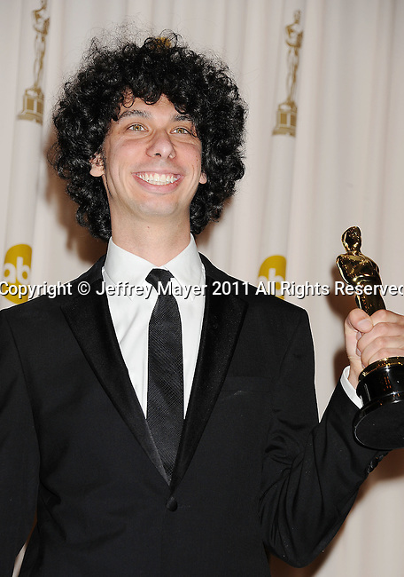 HOLLYWOOD, CA - FEBRUARY 27: Luke Matheny  poses in the press room during the 83rd Annual Academy Awards held at the Kodak Theatre on February 27, 2011 in Hollywood, California.