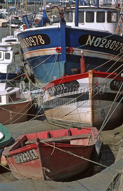 Europe/France/Pays de la Loire/85/Vendée/Ile de Noirmoutier: Bateaux de pêche sur le port