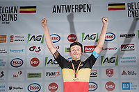 Oliver Naesen (BEL/AG2R-LaMondiale) wins the 2017 Belgian National Championship Road Race and thus is the new Belgian Champion<br /> <br /> 2017 National Championships Belgium - Elite Men - Road Race (NC)<br /> 1 Day Race: Antwerpen &gt; Antwerpen (233km)
