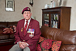 Mcc0061427 . Daily Telegraph<br /> <br /> Telegraph Magazine<br /> <br /> D Day Veterans<br /> <br /> Geoffrey Pattinson 8 Para<br /> <br /> London 8 April 2015
