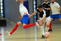 Action from the 2018 Futsal National League tournament semifinal between Capital and Auckland at ASB Sports Centre in Wellington, New Zealand on Sunday, 9 December 2018. Photo: Dave Lintott / lintottphoto.co.nz