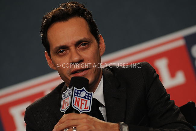 WWW.ACEPIXS.COM . . . . . ....July 21 2009, New York City....Singer Marc Anthony at the NFL, ESPN/ESPN Deportes and Miami Dolphins press conference at the Time Warner Center on July 21, 2009 in New York City.....Please byline: KRISTIN CALLAHAN - ACEPIXS.COM.. . . . . . ..Ace Pictures, Inc:  ..tel: (212) 243 8787 or (646) 769 0430..e-mail: info@acepixs.com..web: http://www.acepixs.com