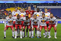 New York Red Bulls starting eleven. The New York Red Bulls defeated the New England Revolution 3-0 during a U. S. Open Cup qualifier round match at Red Bull Arena in Harrison, NJ, on May 12, 2010.