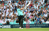 Aaron Finch hits 6 runs for Surrey during Surrey vs Essex Eagles, Vitality Blast T20 Cricket at the Kia Oval on 12th July 2018