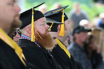Graduates listen to the 45th annual Western Nevada College Commencement ceremony in Carson City, Nev., on Monday, May 23, 2016. A record 556 graduates received 598 degrees.<br />