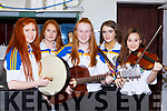 The Glenflesk ballad group who competed in the Scor County finals in Killarney on Saturday l-r: Caithlin Cronin, Molly O'Donoghue, Sinead Gleeson Eabha Healy and Sarah Moran