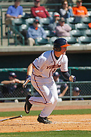 University of Virginia Cavaliers first baseman Pavin Smith(10) at bat during a game against the Liberty University Flames at Joseph P. Riley Ballpark on February 17, 2017 in Charleston, South Carolina. Virginia defeated Liberty 10-2. (Robert Gurganus/Four Seam Images)