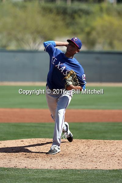 Israel Cruz - Texas Rangers 2016 spring training (Bill Mitchell)