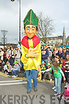 A giant St Patrick entertains the crowds at the KIllarney parade on Saturday