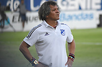 MONTERIA - COLOMBIA, 09-02-2020: Alberto Gamero técnico de Millonarios gesticula durante el partido por la fecha 4 Liga BetPlay DIMAYOR I 2020 entre Jaguares de Córdoba F.C. y Millonarios jugado en el estadio Jaraguay de la ciudad de Montería. / Alberto Gamero coach of Millonarios gestures during match for the date 4 BetPlay DIMAYOR League I 2020 between Jaguares de Cordoba F.C. and Millonarios played at Jaraguay stadium in Monteria city. Photo: VizzorImage / Andres Felipe Lopez / Cont