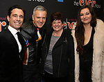 """Christopher Gattelli and Stephen Bienskie with family attends the Broadway Opening Night Performance of """"The Cher Show""""  at the Neil Simon Theatre on December 3, 2018 in New York City."""