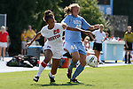 28 August 2011: North Carolina's Emmalie Pfankuch (40) and Houston's Ciara Slayton (26). The University of North Carolina Tar Heels defeated the University of Houston Cougars 6-1 at Fetzer Field in Chapel Hill, North Carolina in an NCAA Women's Soccer game.