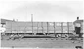 Side view of D&amp;RGW high-side gondola #9274 at Alamosa.<br /> D&amp;RGW  Alamosa, CO  Taken by Richardson, Robert W. - 3/1952