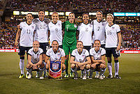 The USWNT lines up during an international friendly at Crew Stadium in Columbus, OH. The USWNT tiedNew Zealand, 1-1.