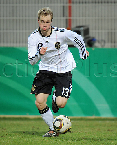 03/03/2010 U20 Friendly match Germany v Switzerland Maximilian Beister Germany. Photo: Imago/Actionplus. Editorial Use UK.