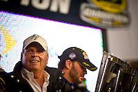Team owner Rick Hendrick enjoys his 10th championship.
