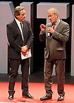 "The spanish journalists Inaki Gabilondo and Manuel Campo Vidal during the Gala ""Contigo"" in celebration of the 90th anniversary of Radio Madrid Cadena SER. June 2, 2015. (ALTERPHOTOS/Acero)"