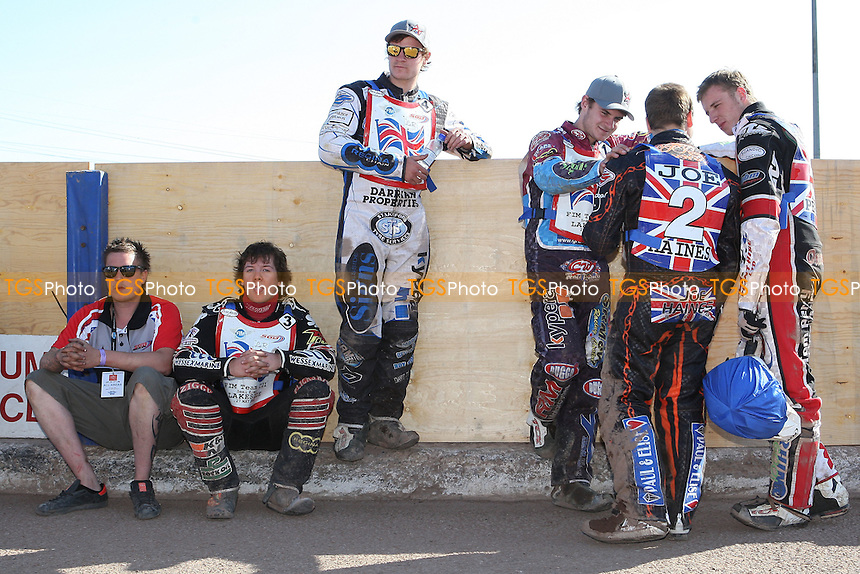 Team GB riders wait for the next heat - FIM Speedway World Under-21 Team Cup Semi Final at Arena Essex Raceway, Purfleet - 27/05/12 - MANDATORY CREDIT: Gavin Ellis/TGSPHOTO - Self billing applies where appropriate - 0845 094 6026 - contact@tgsphoto.co.uk - NO UNPAID USE.