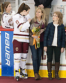 Brooke DiBona, Meghan Grieves (BC - 17), Debbie Grieves,? - The Boston College Eagles defeated the visiting Providence College Friars 7-1 on Friday, February 19, 2016, at Kelley Rink in Conte Forum in Boston, Massachusetts.