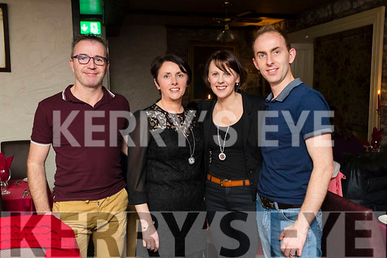 Pascal Redmond, Ballyheigue, who celebrated his 39th birthday in Cassidy's restaurant, Tralee, on Saturday night last, l-r:  Joe O'Brien Eleanor O'Brien with Treasa and Thomas Redmond.