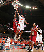 Virginia's Sylven Landesberg_Virginia held North Carolina State scoreless for more than 7 minutes on the way to a 59-47 victory Wednesday night at the John Paul Jones Arena in Charlottesville, VA. Virginia (14-6, 5-2 Atlantic Coast Conference) regained a share of first place in the conference. (Photo/Andrew Shurtleff)....