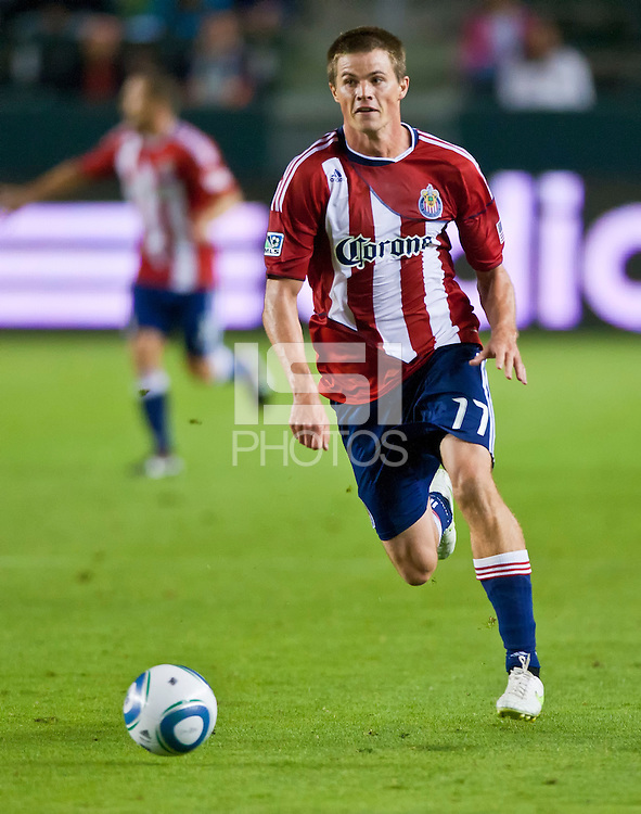CARSON, CA – July 23, 2011: Chivas USA forward Justin Braun (17) during the match between Chivas USA and Houston Dynamo at the Home Depot Center in Carson, California. Final score Chivas USA 3, Houston Dynamo 0.