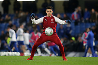 Alexis Sanchez of Arsenal warms up pre-match during Chelsea vs Arsenal, Caraboa Cup Football at Stamford Bridge on 10th January 2018