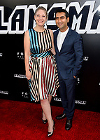 Kumail Nanjiani &amp; Emily Gordon at the Los Angeles premiere of &quot;BlacKkKlansman&quot; at the Academy's Samuel Goldwyn Theatre, Beverly Hills, USA 08 Aug. 2018<br /> Picture: Paul Smith/Featureflash/SilverHub 0208 004 5359 sales@silverhubmedia.com