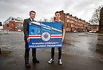 Rangers MD Stewart Robertson and Andy Halliday launch a Community Engagement Programme aimed at keeping local residents happy on matchdays
