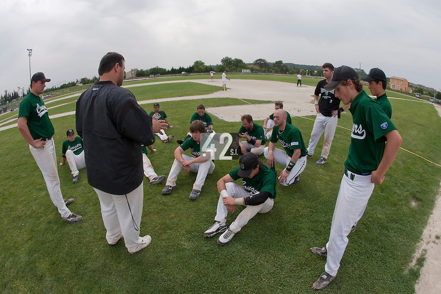 22 May 2009: Team Montigny during the 2009 challenge de France, a tournament with the best French baseball teams - all eight elite league clubs - to determine a spot in the European Cup next year, at Montpellier, France.